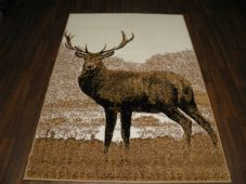 Modern Approx 6x4 120x170cm Woven Backed Stag Rugs Sale  Top Quality Beiges
